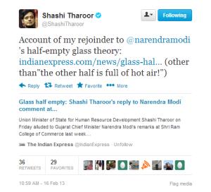 Rejoinder for NaMo Half Glass Remark at #SRCC