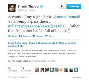 Rejoinder for NaMo Half Glass Remark at #SRCC