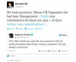 Organizers (yes CNN-IBN stable) inept at Scheduling proven here