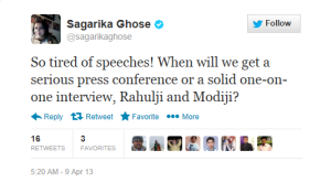 We have had enough share of Modiji's speech and QnA. Now how about getting Rahul-ji (I guess you can address him ji)