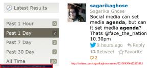 Come Again. It can set Media Agenda. Can it set media agenda.