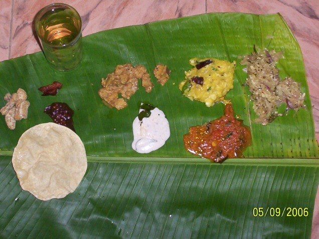 The Sadhya... More items to come.