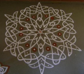 Day 2 - WetFlour Rangoli