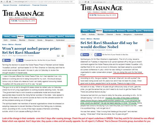 SriSri-NobelPrize-AsianAge-2 report